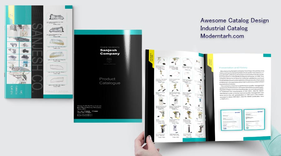 طراحی کاتالوگ شرکت سنجش