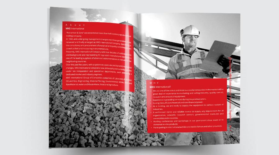 طراحی کاتالوگ شرکت مکث معدن