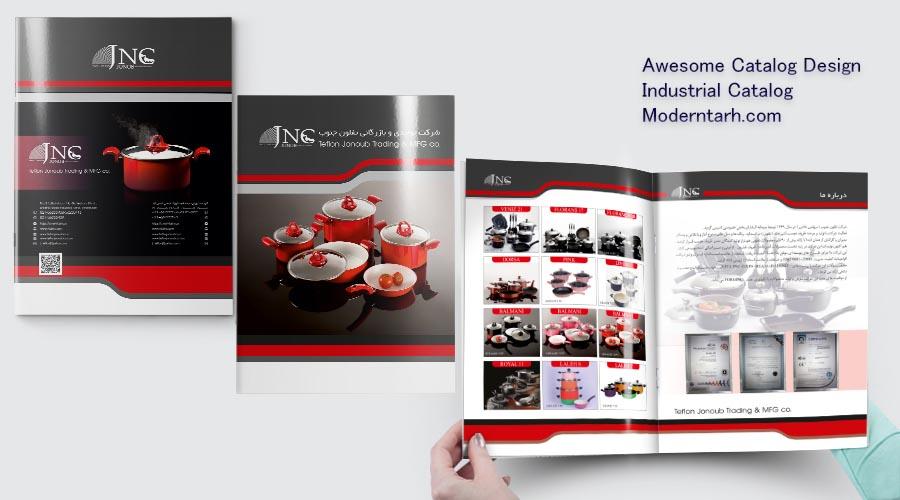 طراحی کاتالوگ شرکت JNC