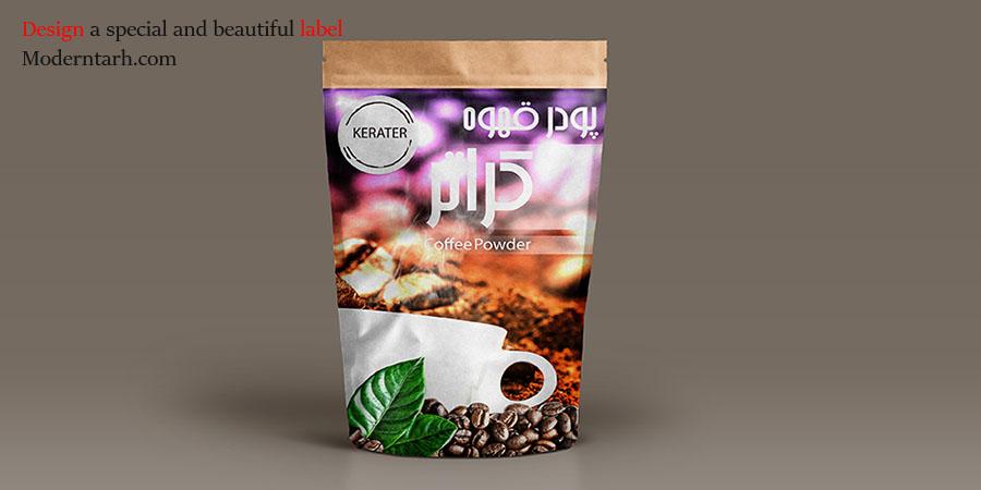 طراحی لیبل پودر قهوه